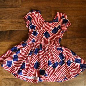 Dot Dot Smile American Patriotic Flag Dress 12/24